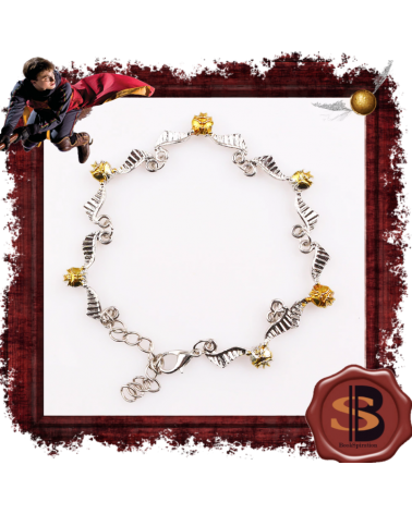 Golden snitch bracelet, Harry Potter