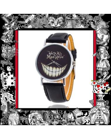 Ръчен часовник We are all mad here, Алиса в страната на чудесата