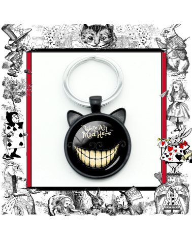 Keychain We are all mad here, Alice in wonderland