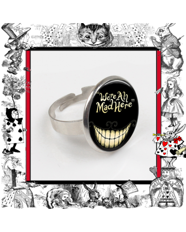 Ring We are all mad here, Alice in wonderland