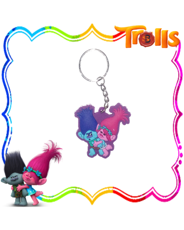 Pvc Key Chain Poppy & Branch, Trolls