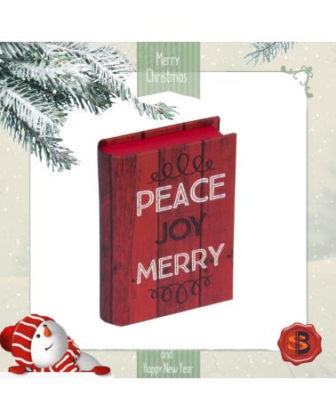 Коледен комплект Do Not Open в кутийка с картичка и колие винтидж телевизорче