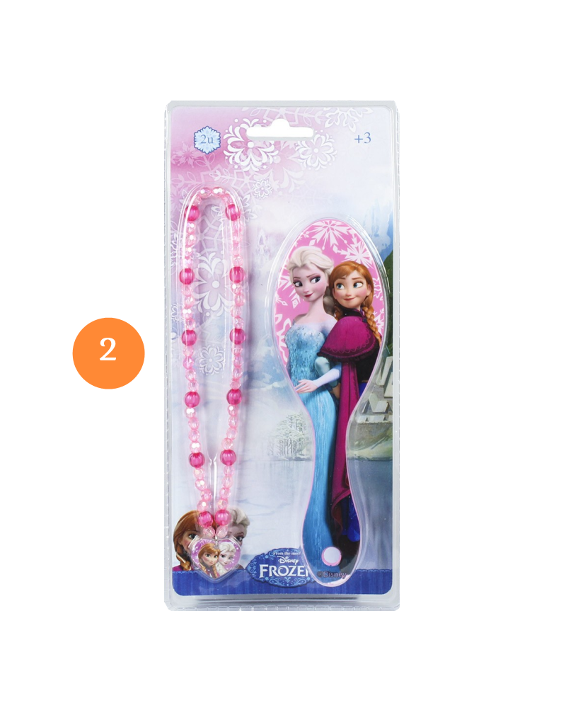 Brush with frozen accessories