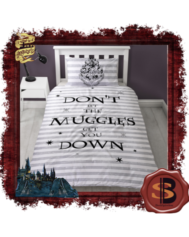 Harry Potter Hogwarts Muggle Single Duvet Set