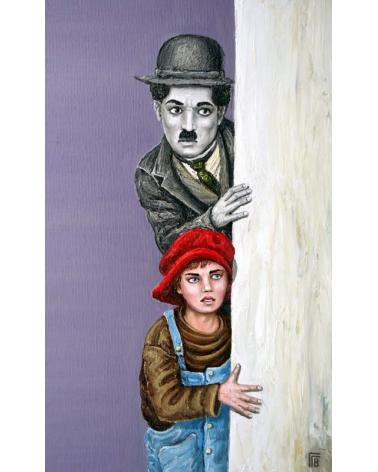 Чарли Чаплин и Хлапето гледат / Григор Велев