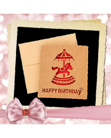 Крафт картичка за рожден ден Happy Birthday