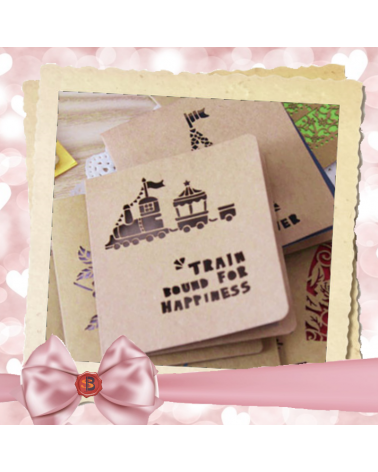 Kraft card for someone special Train round for happiness