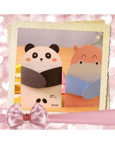 Children's greeting card panda