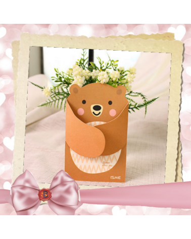 Children's greeting card teddy bear