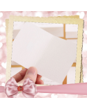 White greeting card Good Luck