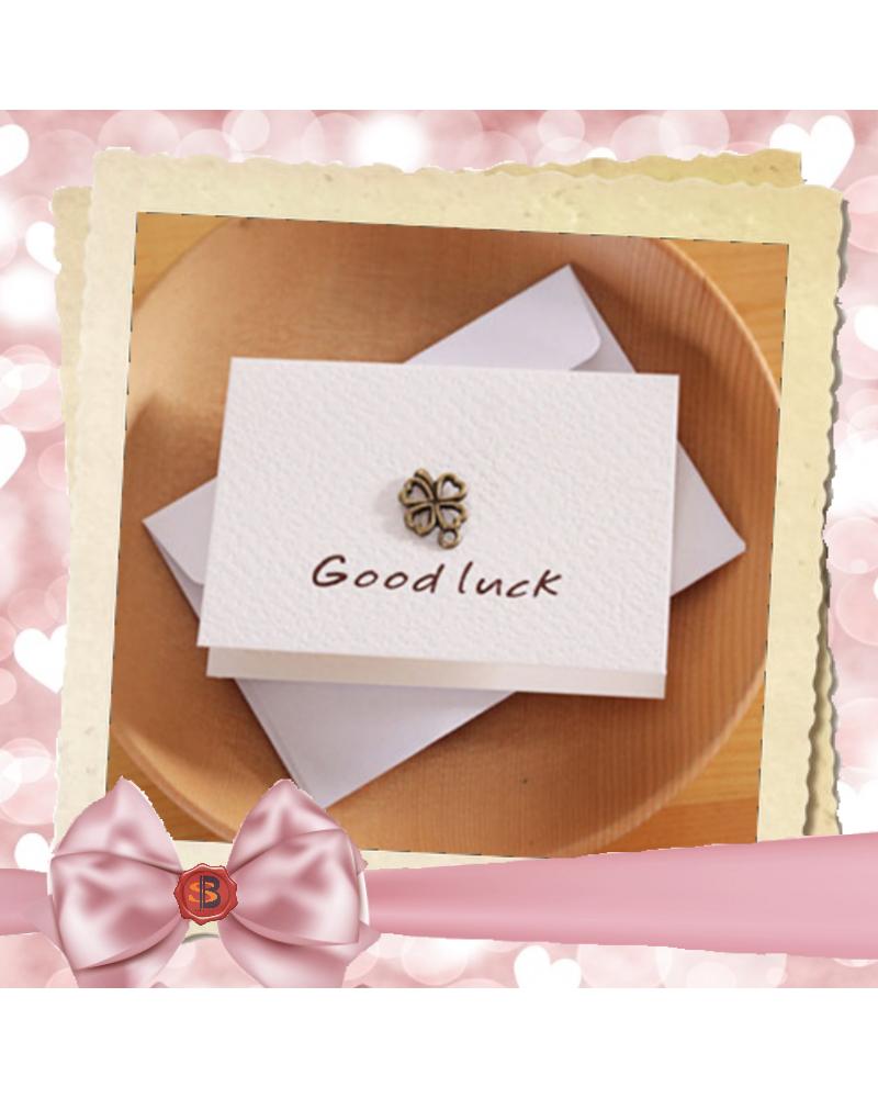 Бяла картичка за късмет Good Luck