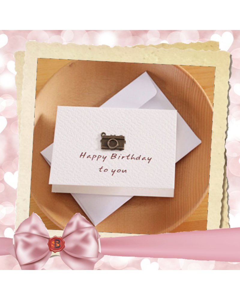 White birthday card Happy birthday to you