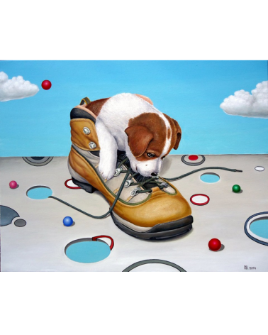 Dog in boot / Grigor Velev