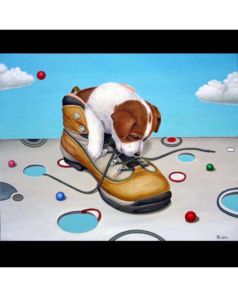 Dog in boot / Grigor Velev