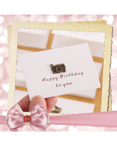 White birthday card Happy birthday to you