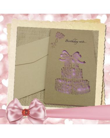Бяла картичка за рожден ден Happy Birthday to you