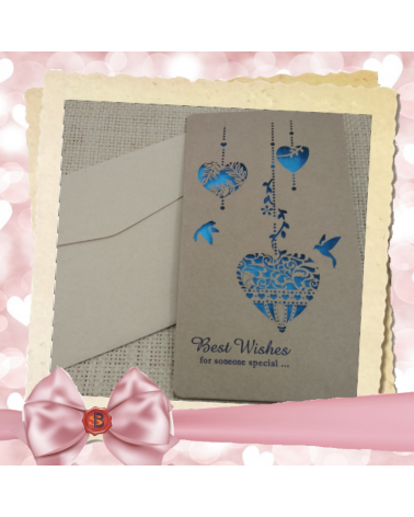 Крафт картичка за специален повод Best Wishеs