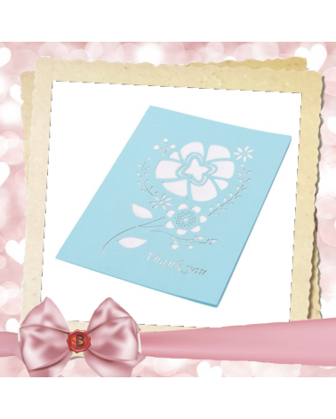 Greeting card blue Thank you
