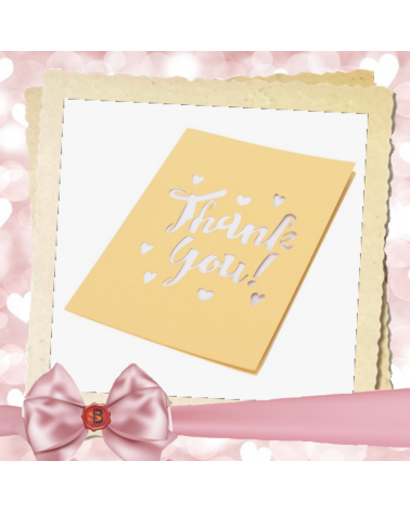 Greeting card yellow Thank you