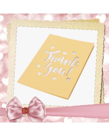 Перлена картичка с надпис Thank you