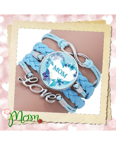 Multilayer Braided Mama Bracelet