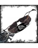Brown Leather Bracelet Stark, Game of thrones