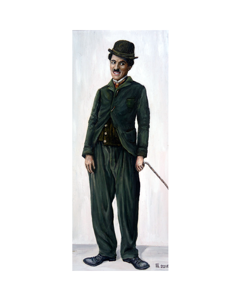 Portrait of Charlie Chaplin / Grigor Velev