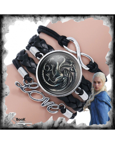 Black Leather Bracelet Targaryen, Game of thrones