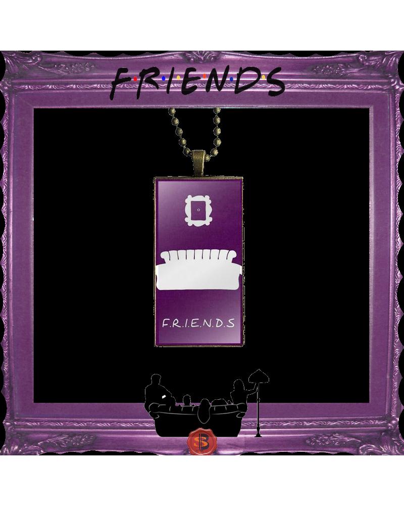 Правоъгълно лилаво колие Приятели