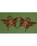 Wood earings butterflies