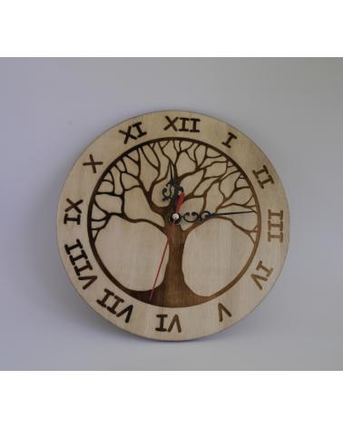Дървен Стенен Часовник Дървото на живота
