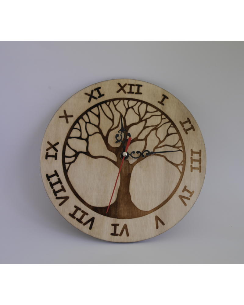 Wooden Wall Clock The Tree of Life