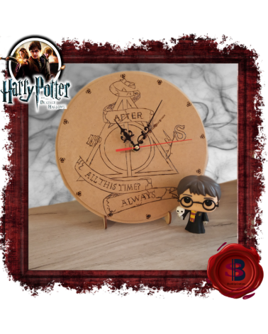Wooden Wall Clock Harry Potter