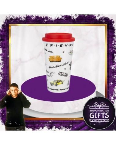 Керамична термо чаша за път Приятели