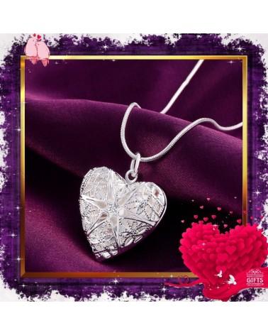 Колие сърце с отварящ се медальон