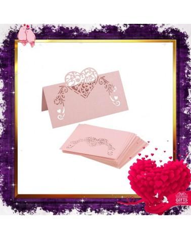 Перлена картичка сърце