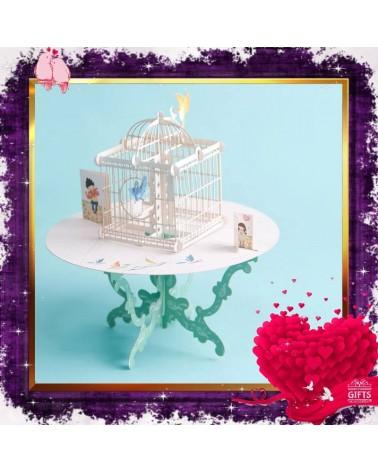 Поп-ъп картичка Любовна Клетка