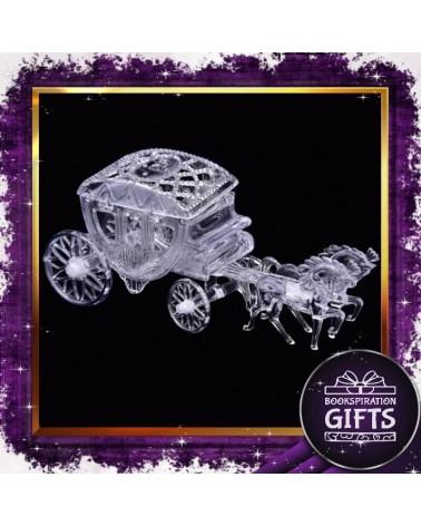 Пластмасова кутийка за подарък каляска с кончета
