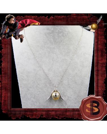 Golden snitch big necklace, Harry Potter