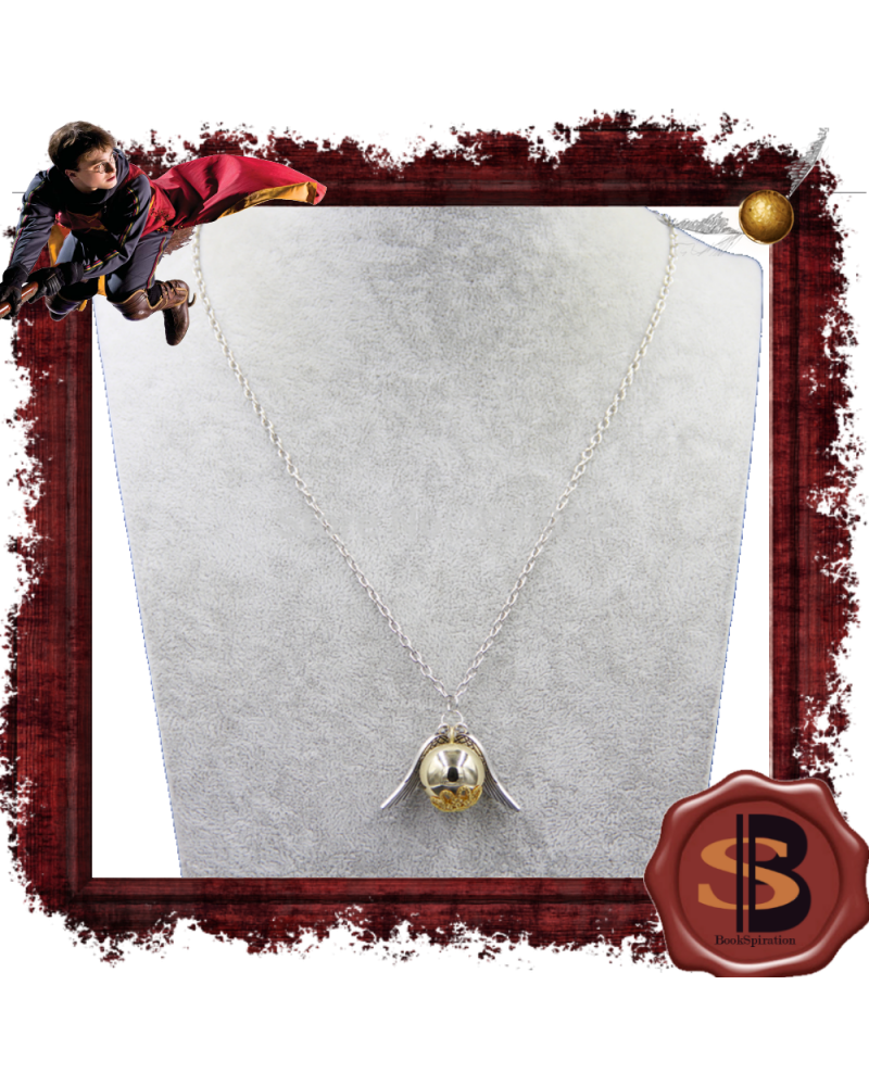 Golden snitch big necklace, Harry Potter