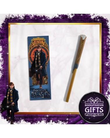 Химикалка магическата пръчка на Нют Скамандър + Книгоразделител