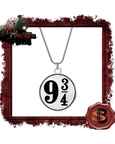 Silver Necklace Platform 9 3/4, Harry Potter