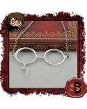 Necklace Glasses with Harry Potter Lightning