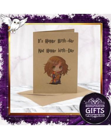 Крафт картичка за рожден ден с Хърмаяни, Хари Потър