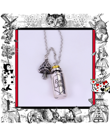 Necklace Eat me Bottle, Alice in Wonderland
