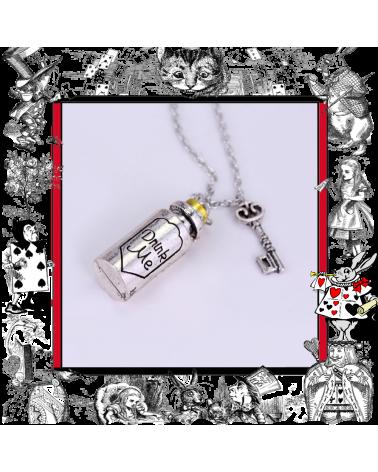 Колие шишенце с надпис Drink me, Алиса в страната на чудесата