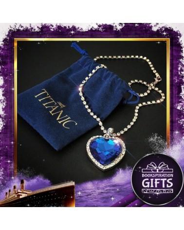 Колие Сърцето на Океана с торбичка от синьо кадифе, Титаник