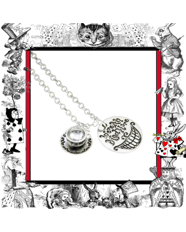 We are all mad here Necklace, Alice in Wonderland
