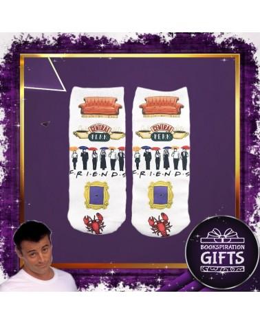 Къси чорапки Приятели, бели